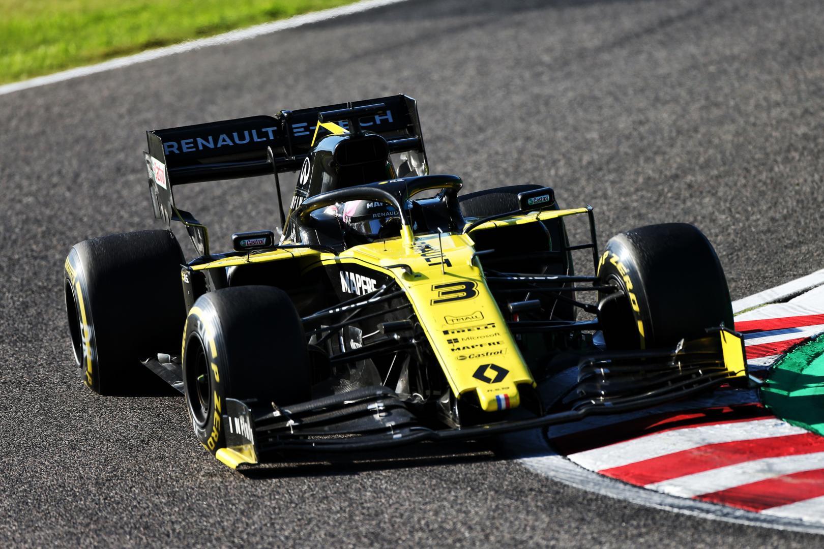 Daniel Ricciardo in Renault F1 tijdens GP van Japan
