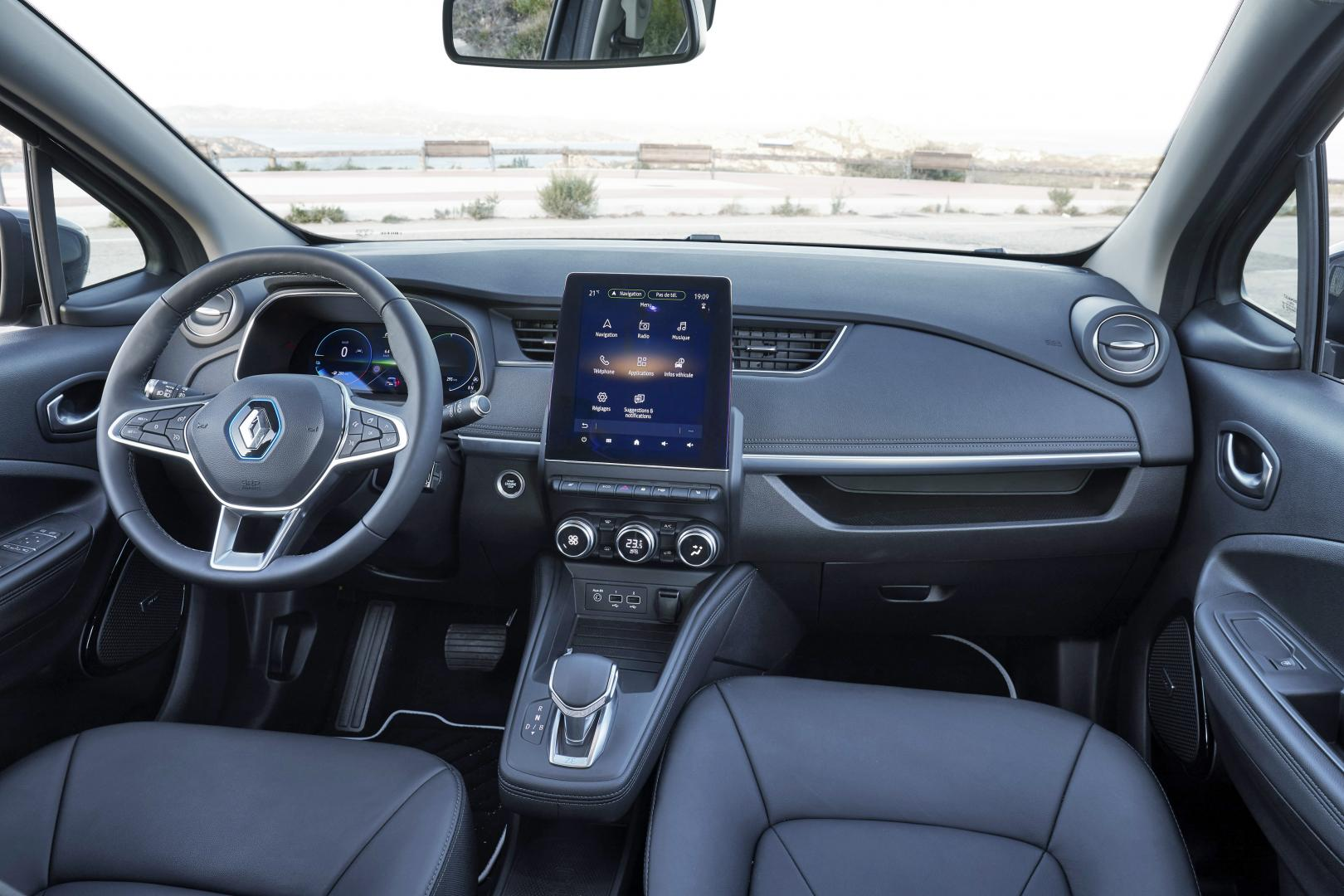 Renault Zoe interieur dashboard 2019