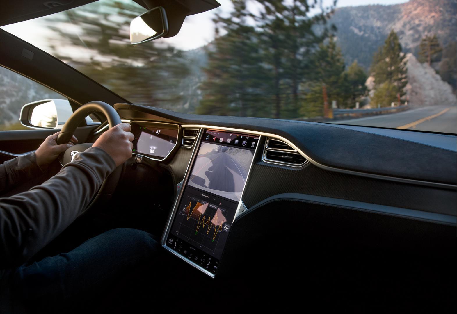 Tesla Model S Long Range interieur scherm