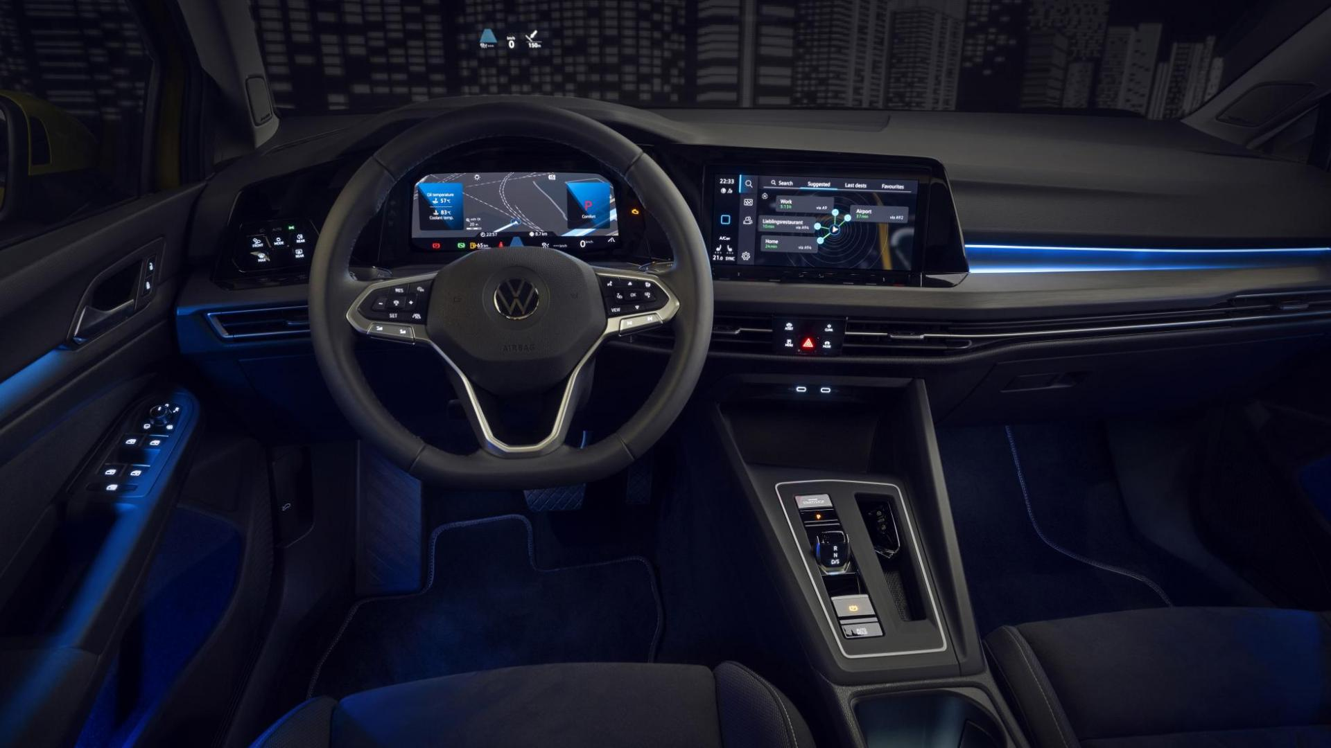 Volkswagen Golf 8 Interieur Dashboard Schermen