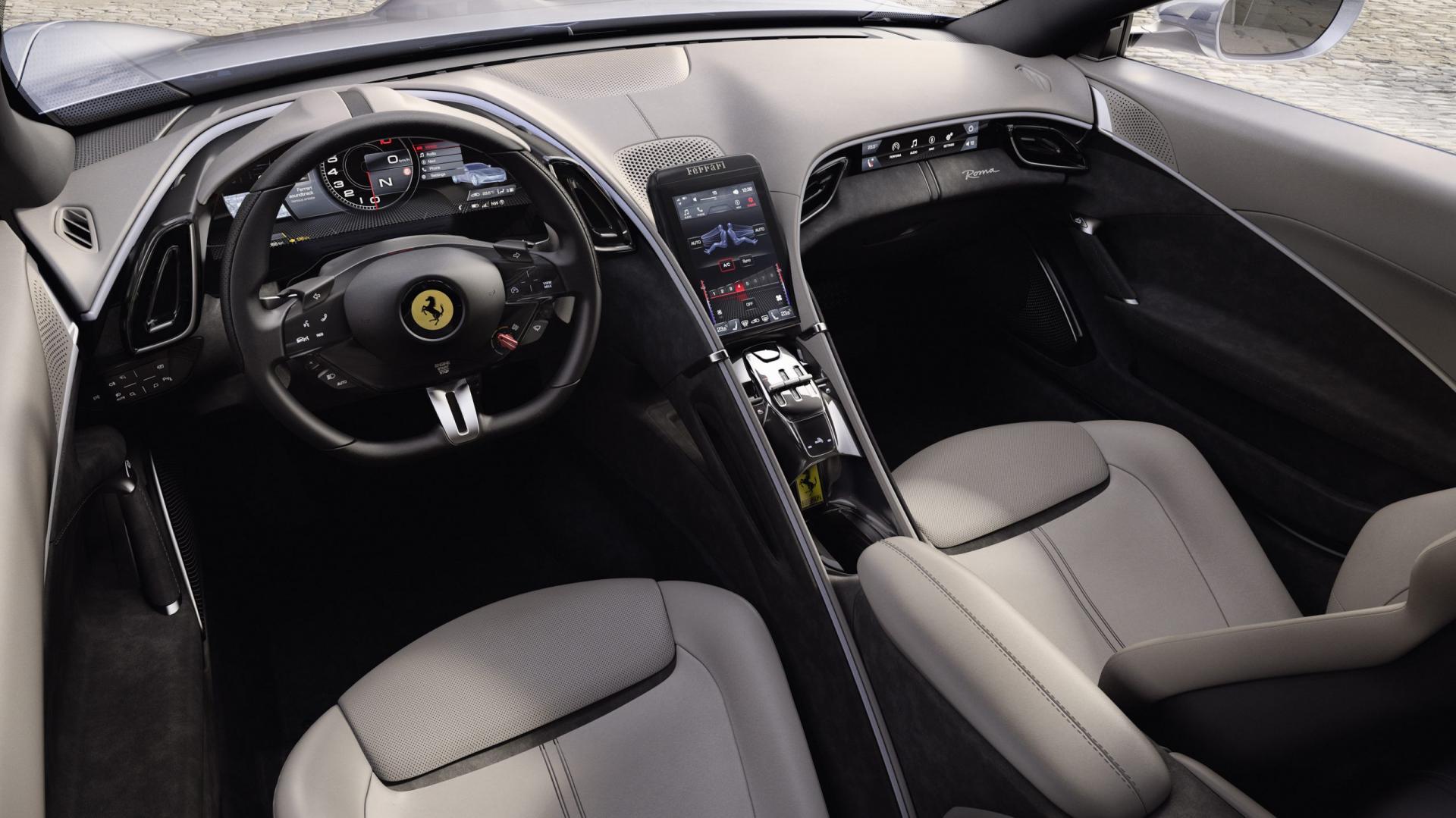 Ferrari Roma 2020 interieur dashboard