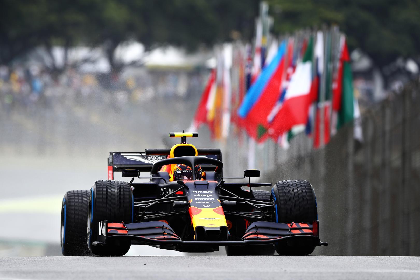 Alexander Albon op de wets GP van Brazilië 2019