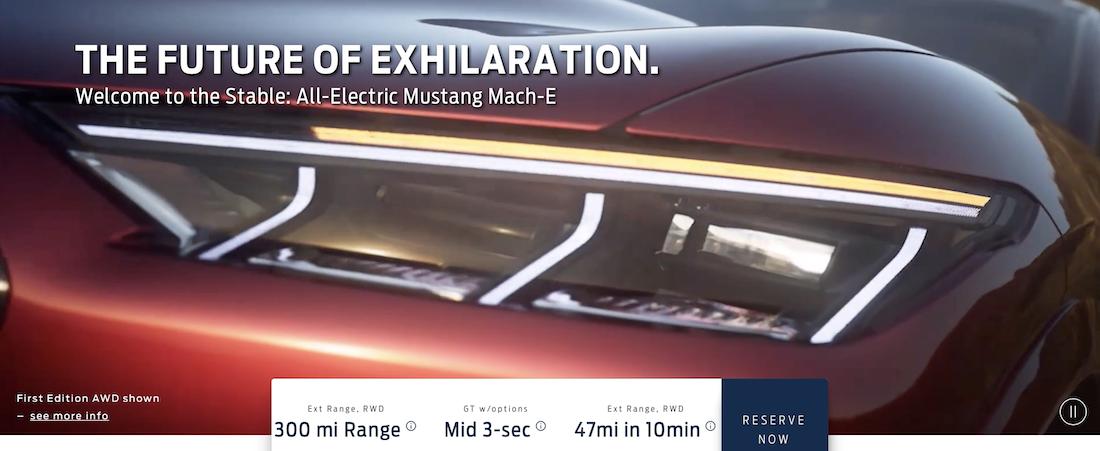 Ford Mustang Mach-E gelekt