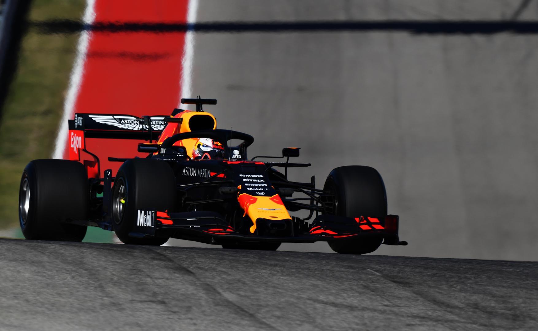 Max Verstappen T1 GP van amerika 2019