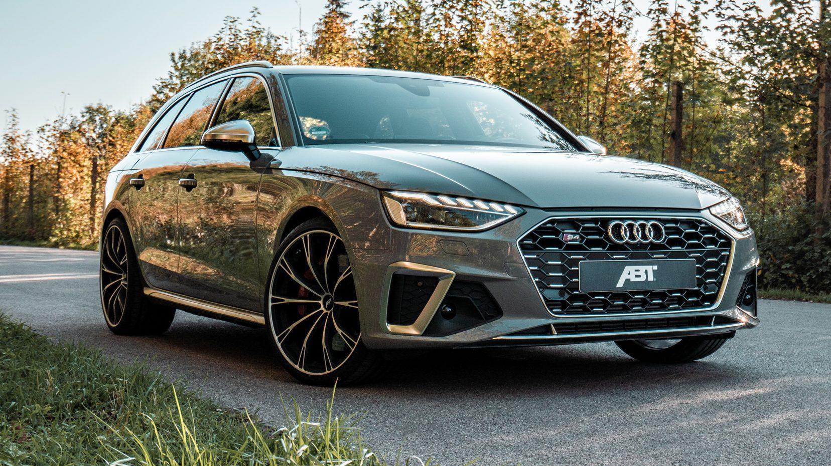 Abt Audi S4 drie kwart voor op weg