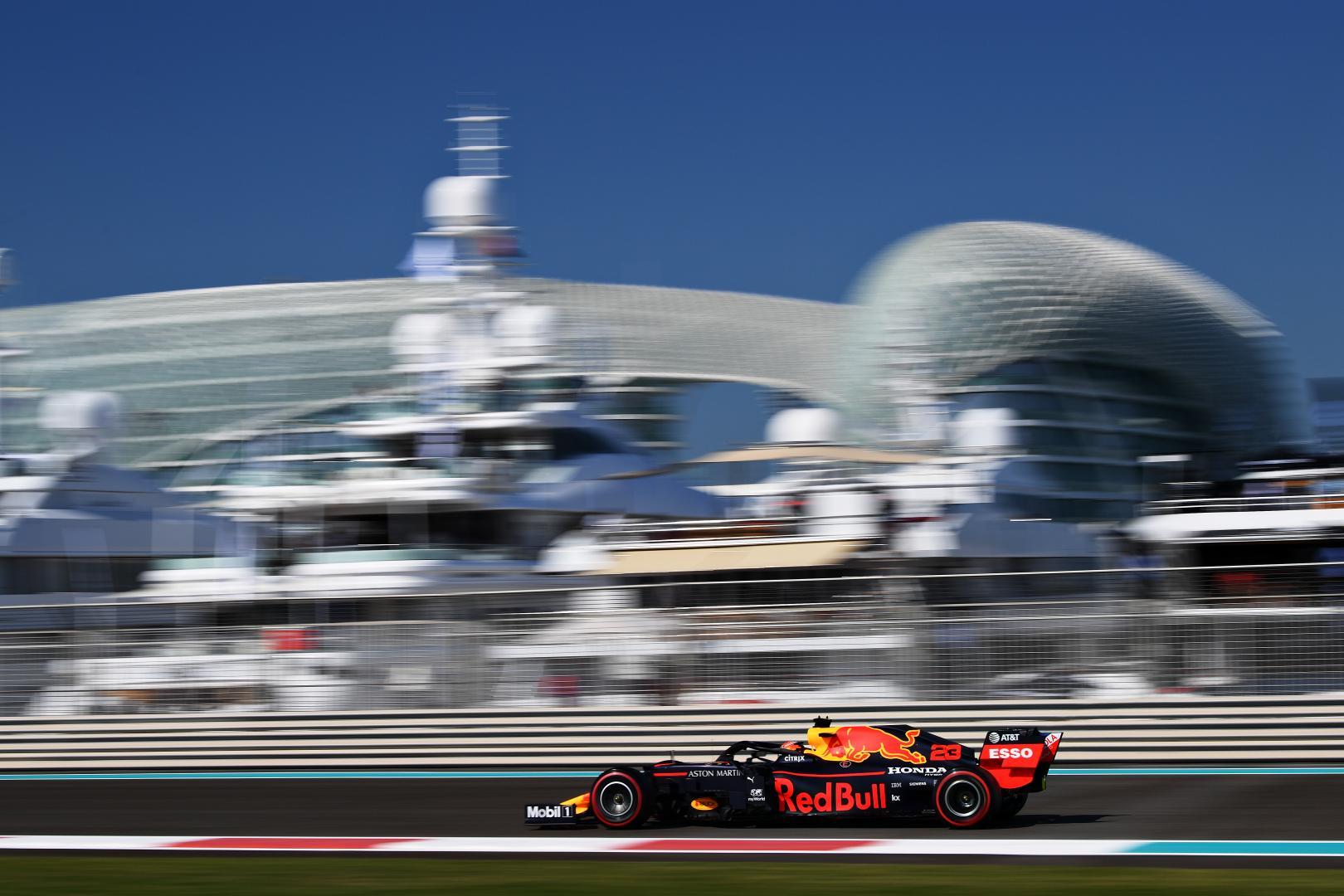 Alexander Albon zij voor jachten GP van Abu Dhabi 2019