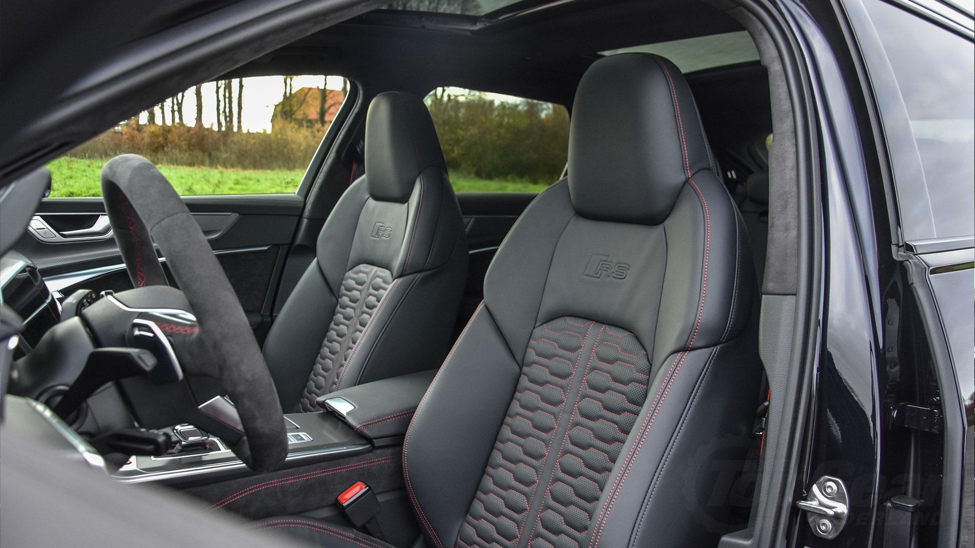 Audi RS 6 zwart interieur