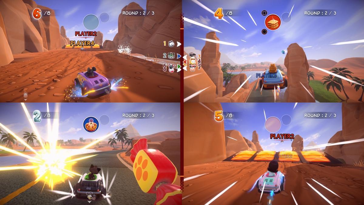 Garfield Karting: Furious Racing vier spelers