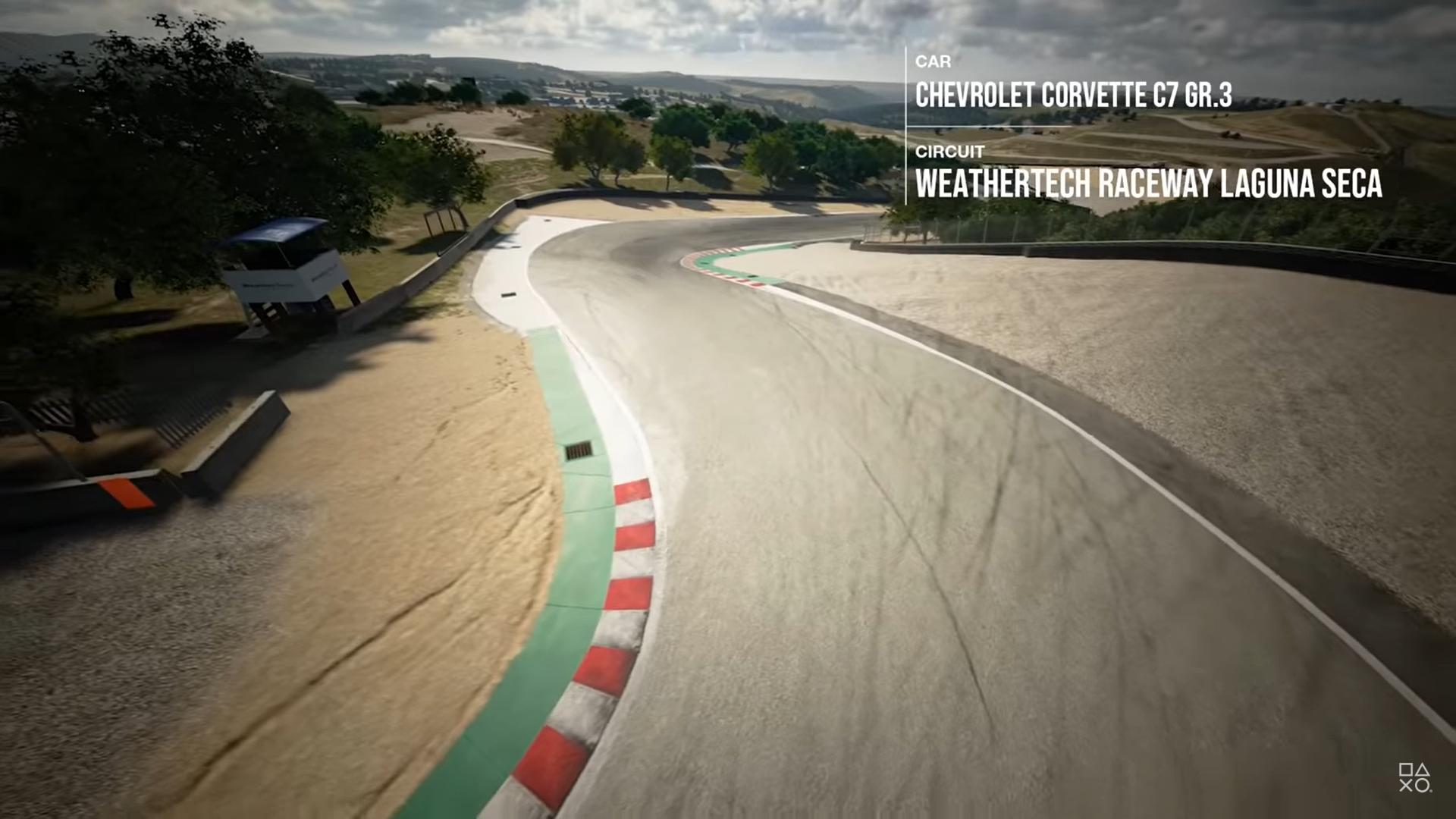 Laguna Seca Gran Turismo Sport kurkentrekker