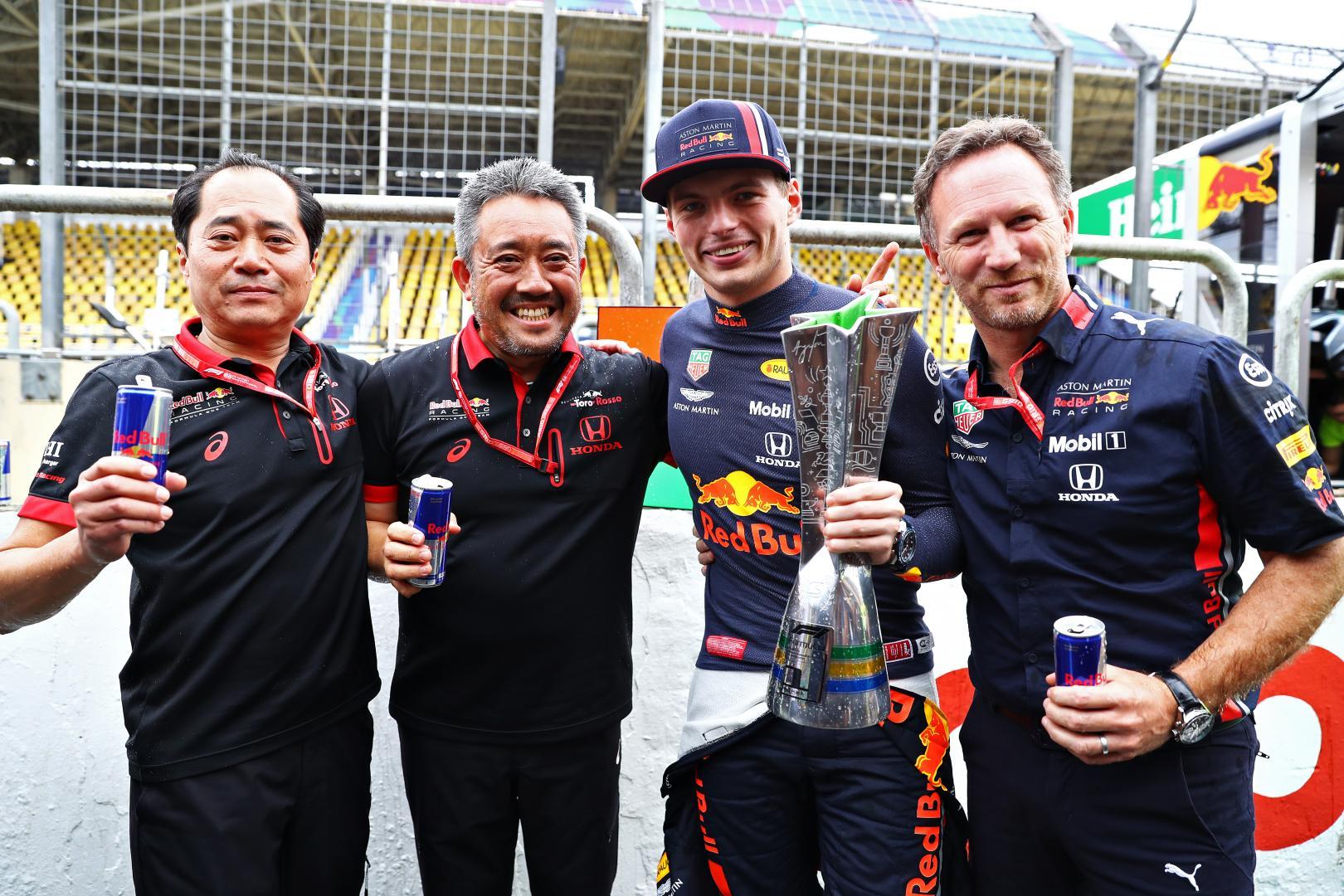 Max Verstappen Christian Horner Tanabe Red Bull Honda
