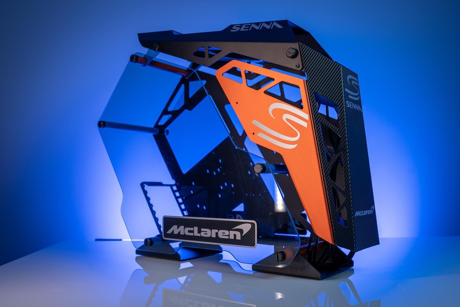McLaren Senna PC blauw zij