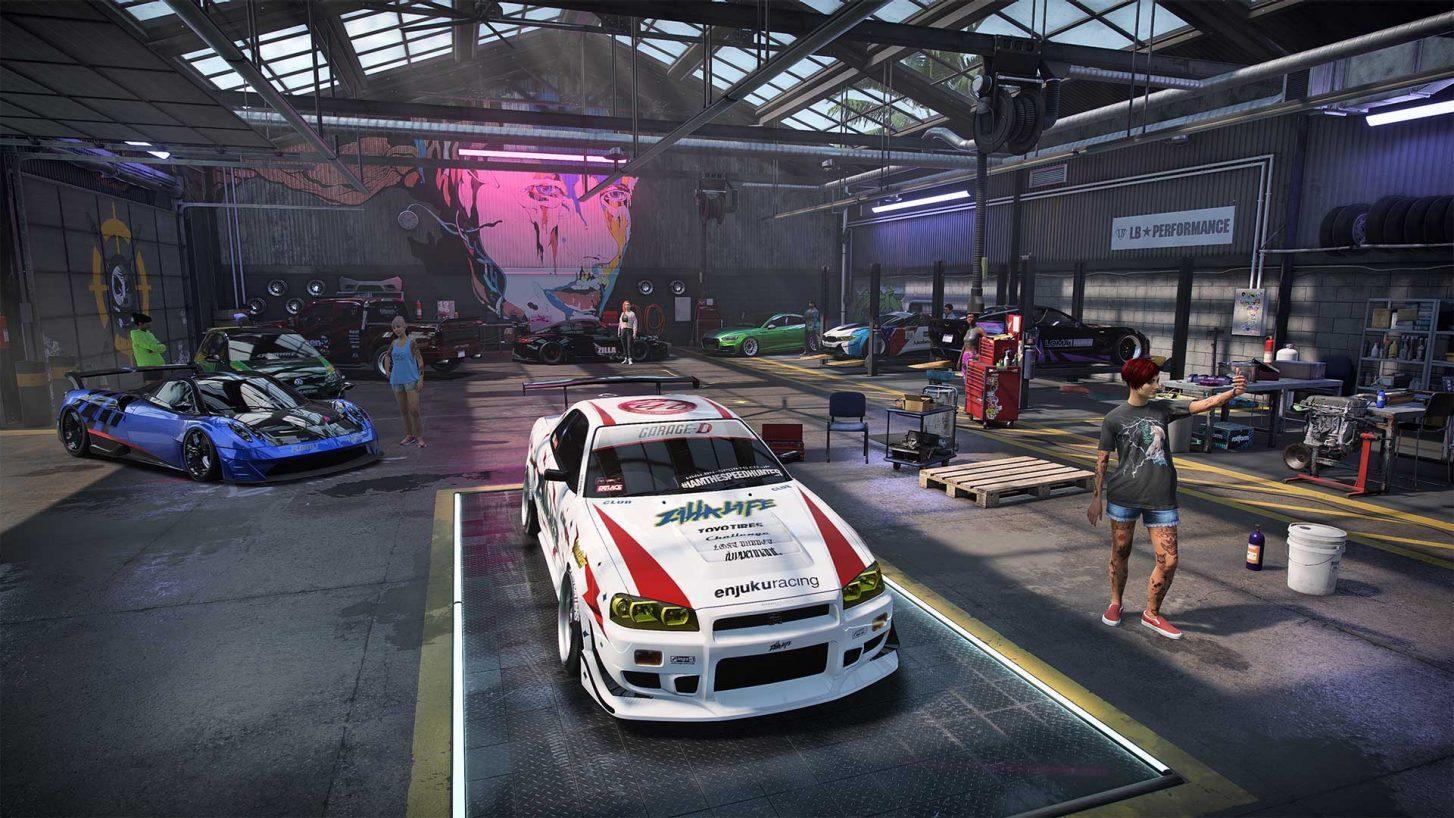 Need for Speed Heat Nissan SKyline R34 Garage Pagani