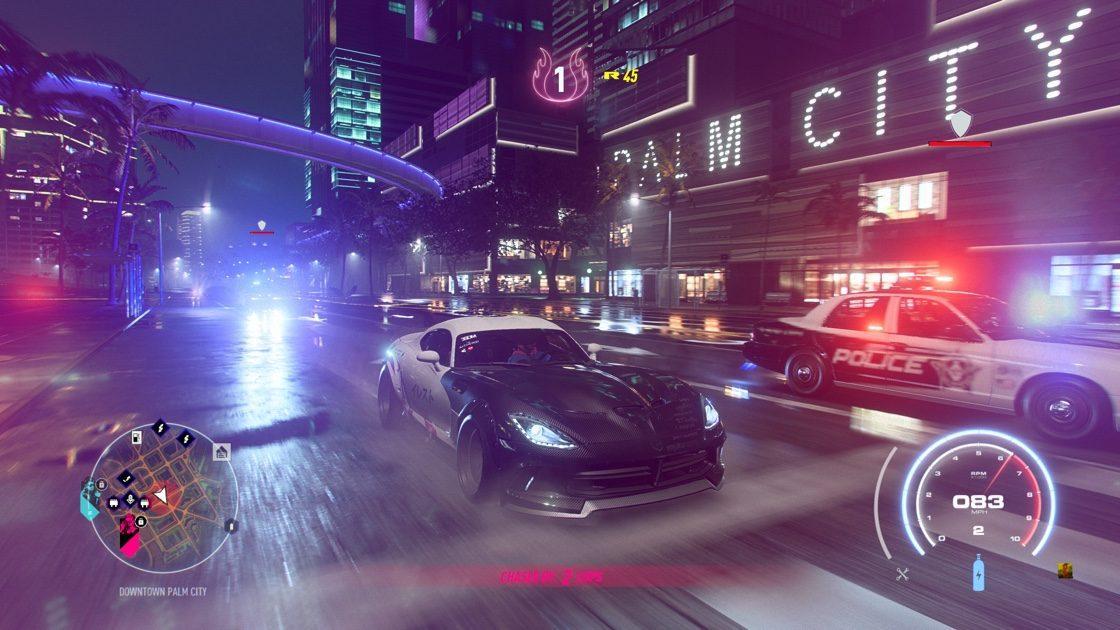 Need for Speed Heat Corvette Politie
