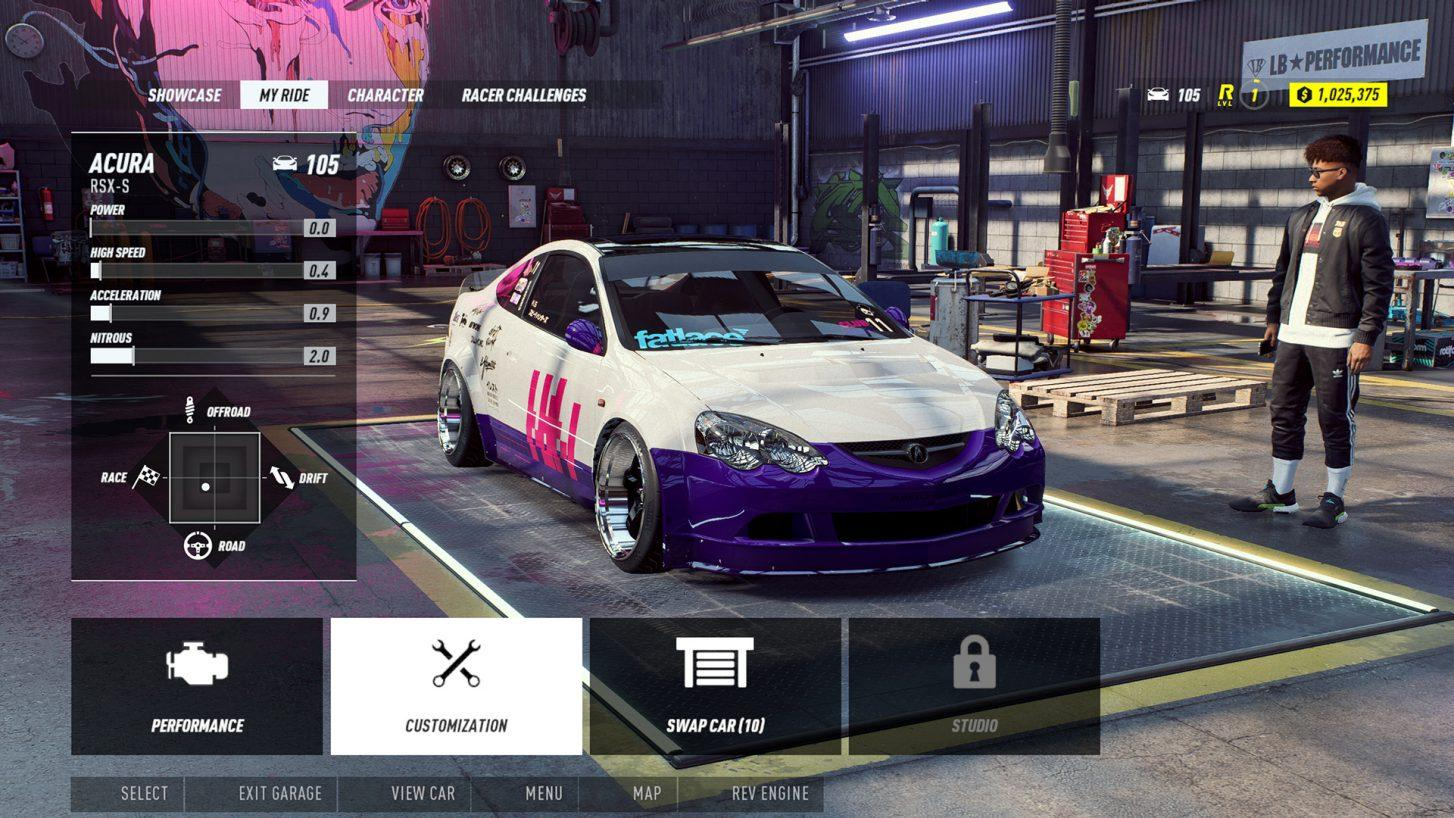 Need for Speed Heat Acura Type R