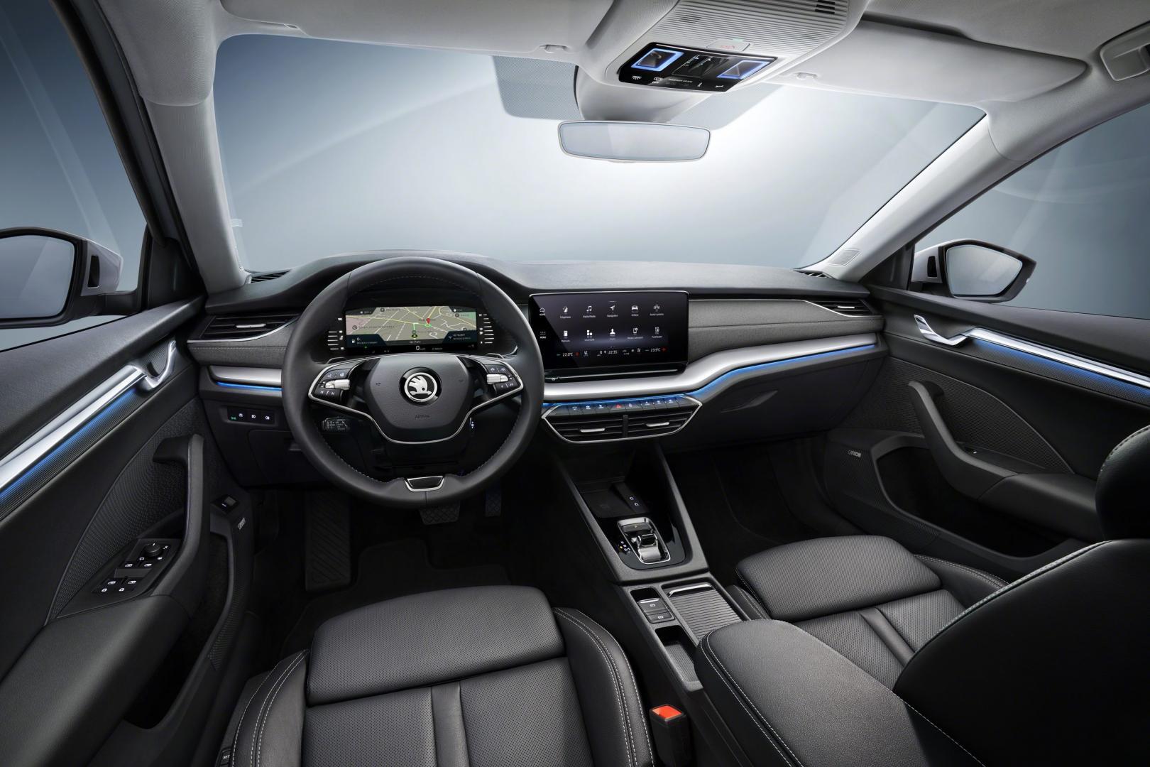 Nieuwe Skoda Octavia 2020 dashboard interieur