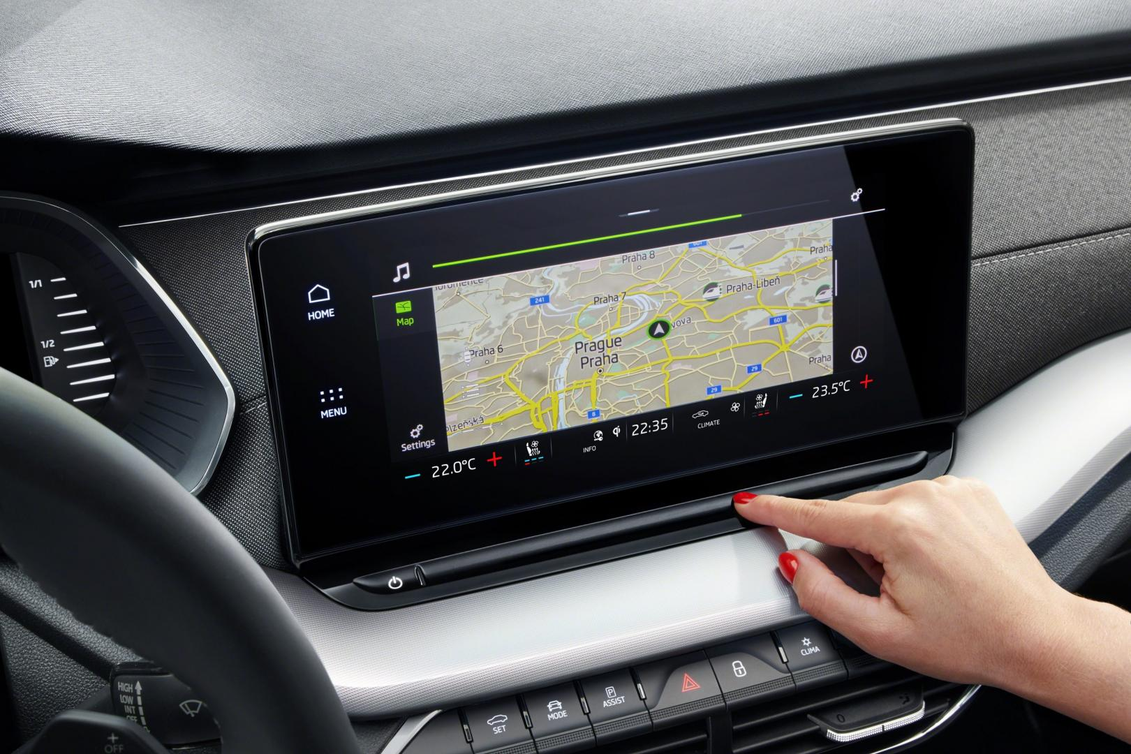 Nieuwe Skoda Octavia 2020 interieur dashboard scherm