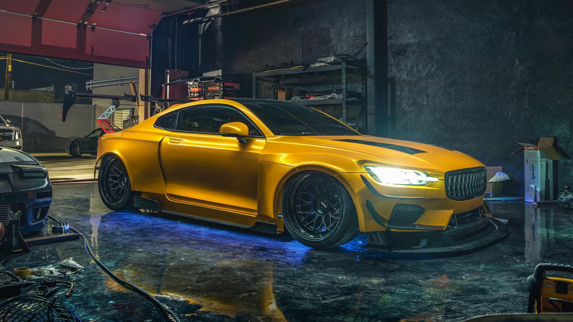 Polestar 1 uit NFS garage neon