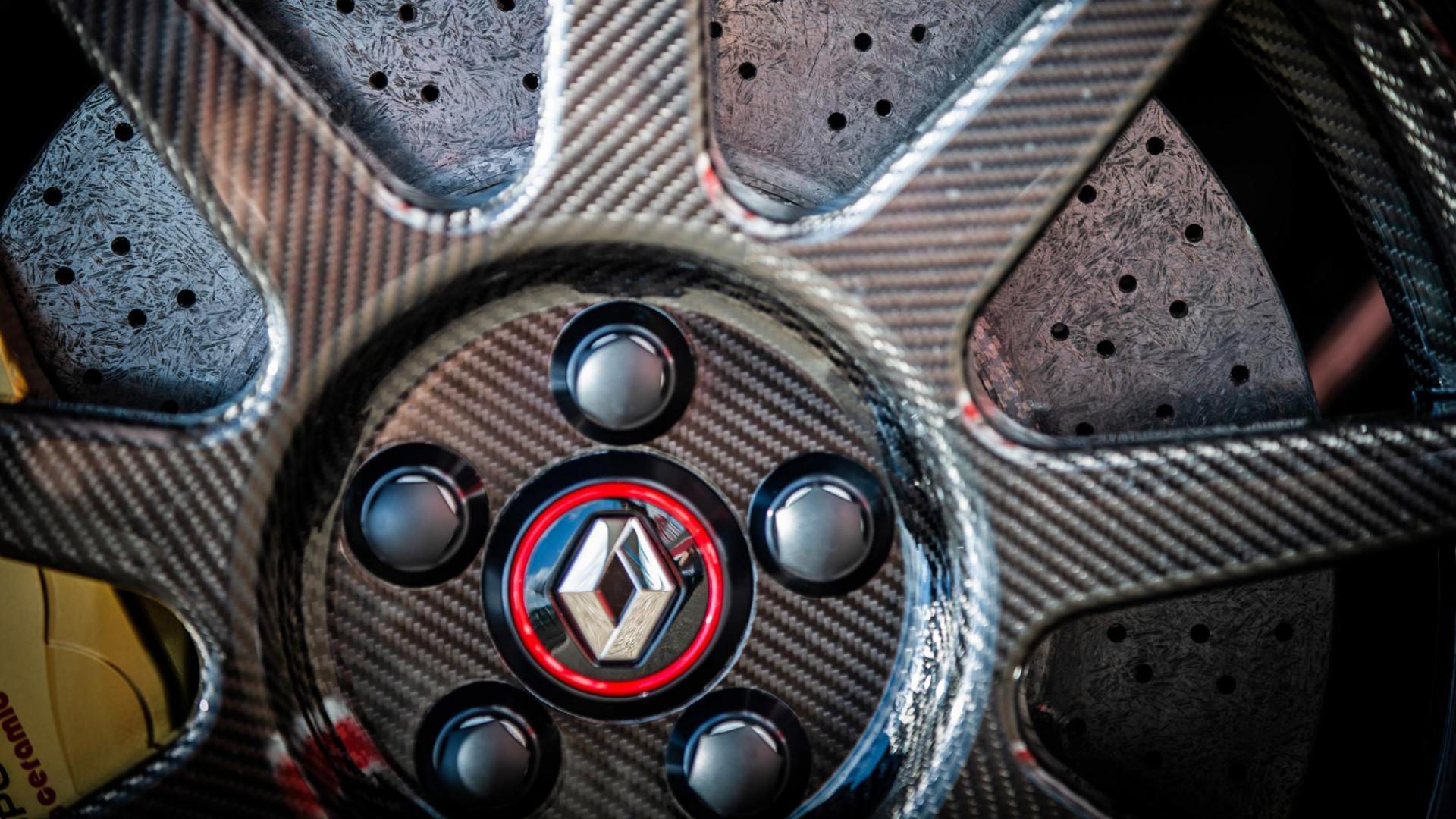 Renault Mégane RS Trophy-R detail koolstofvezel velf remschijf