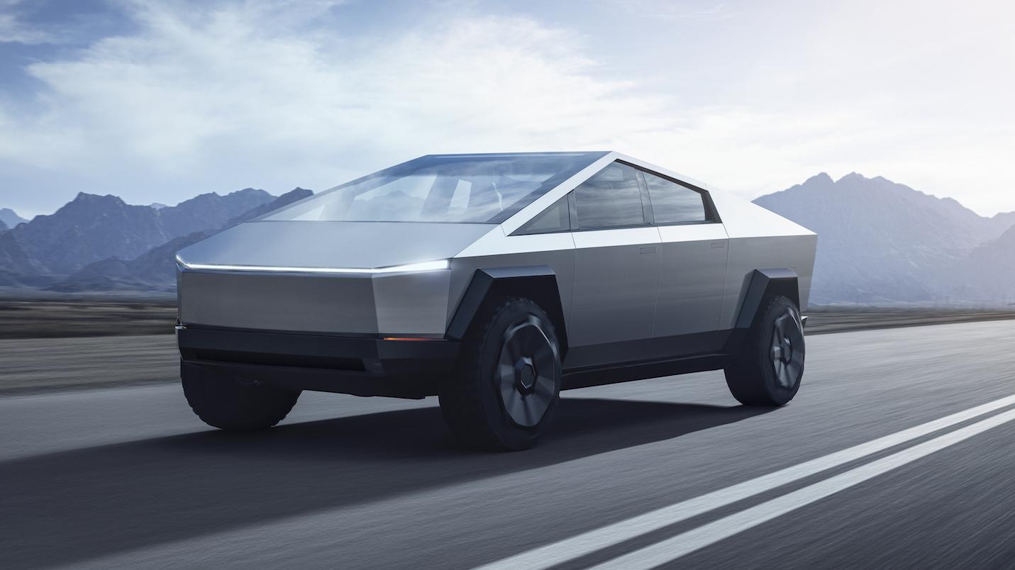 Tesla Cybertruck 2020 3 4 voor rijder