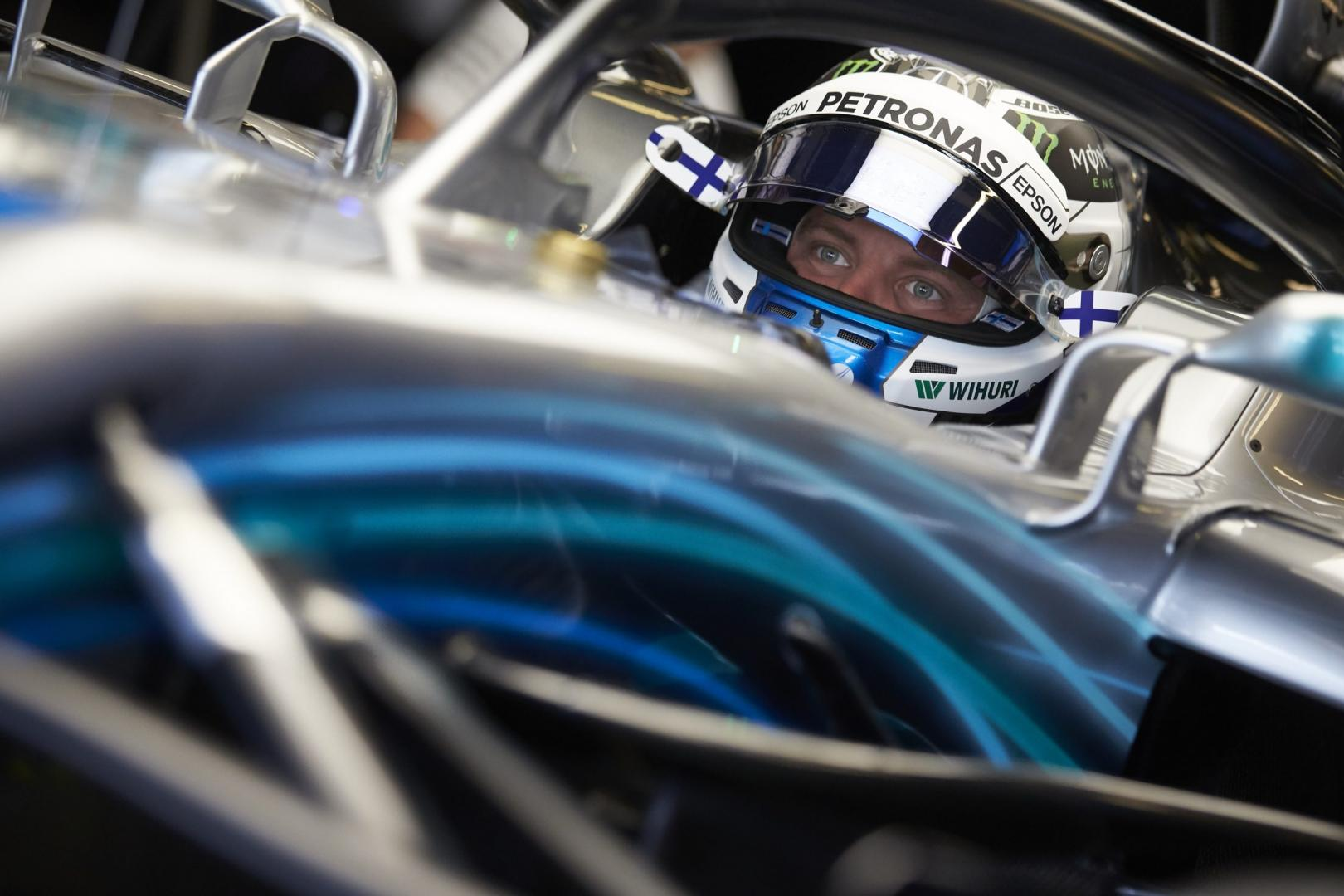 Valtteri Bottas in cockpit GP van Abu Dhabi 2018