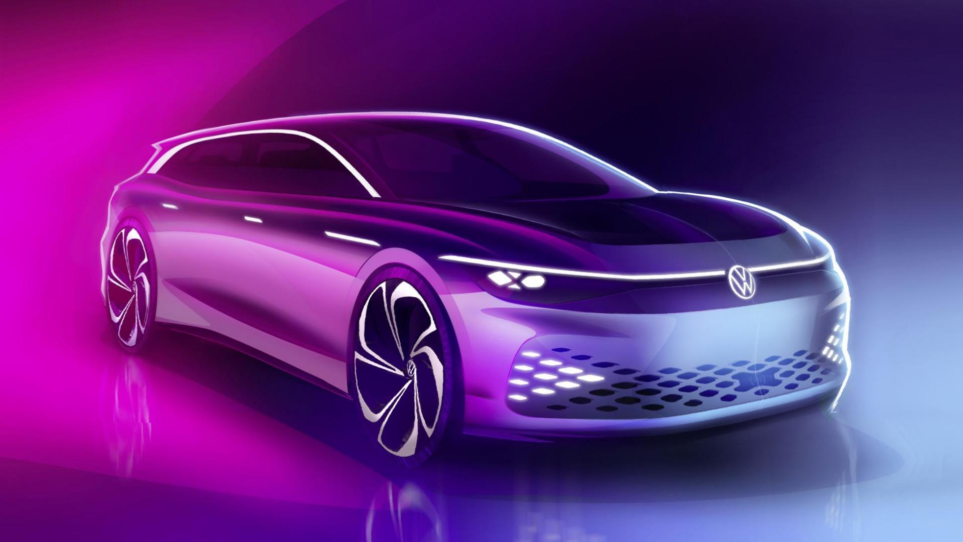 Volkswagen Space Vizzion concept drie kwart voor