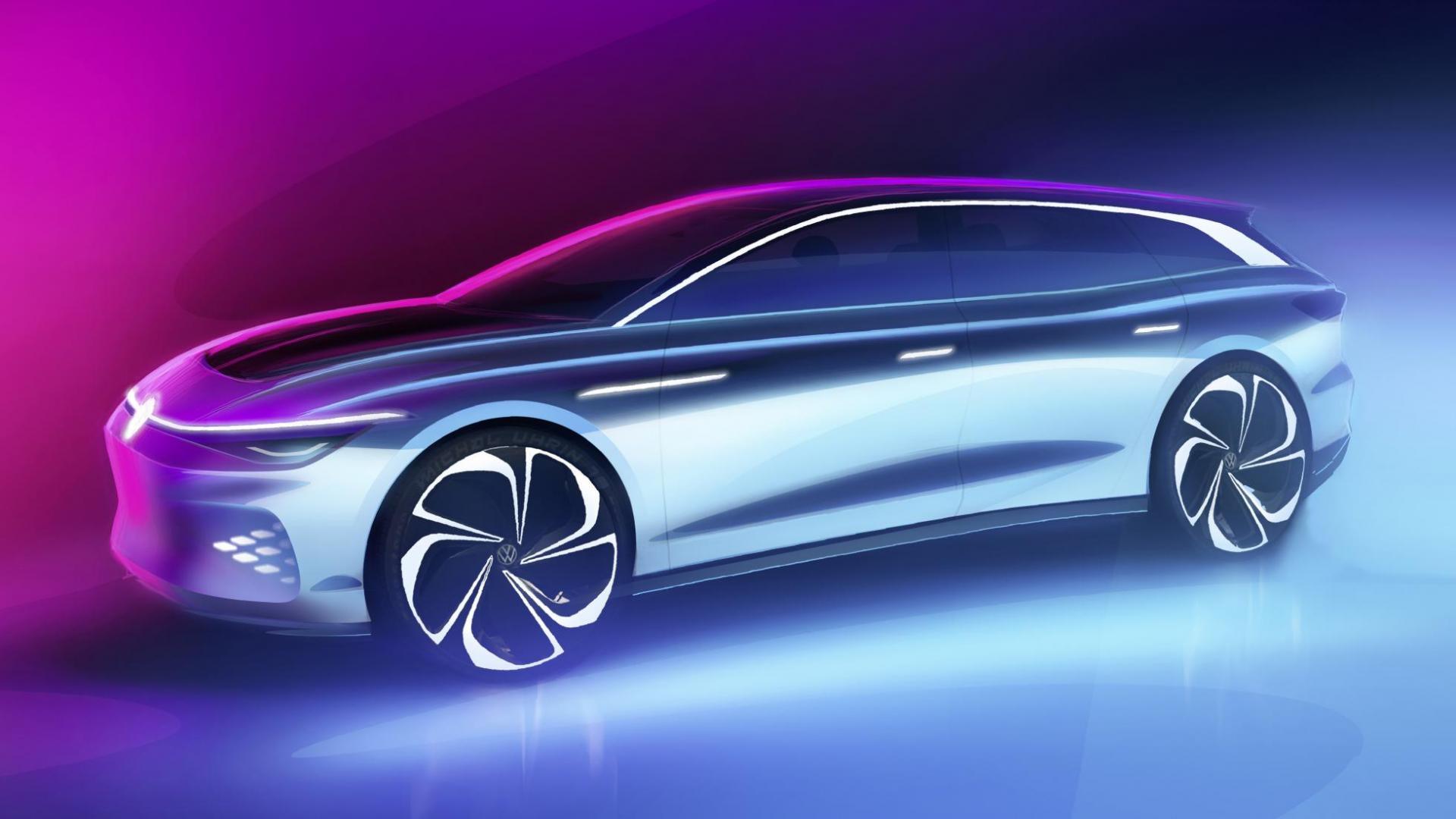 Volkswagen Space Vizzion concept zij schuin voor
