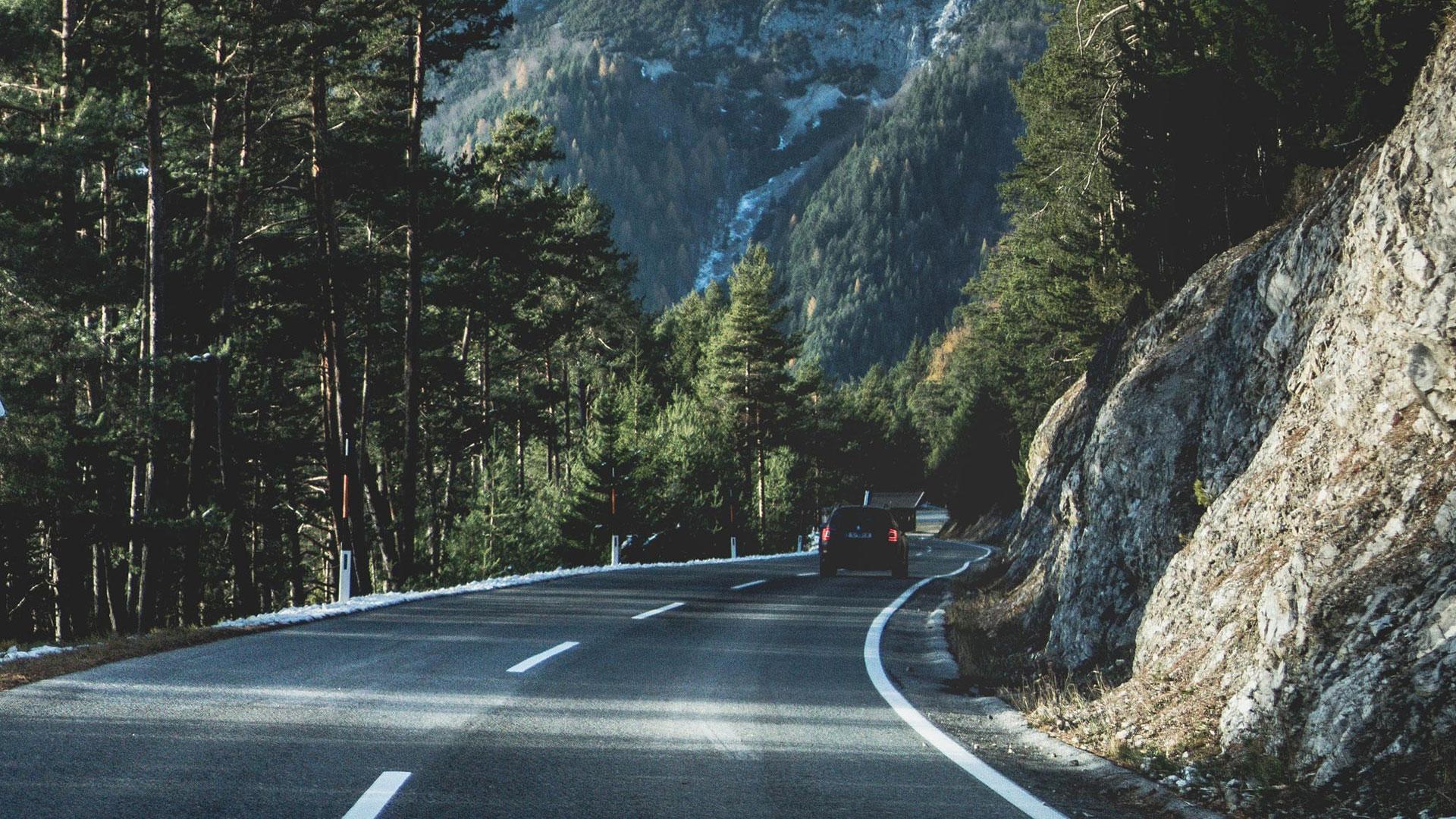 Weg in Oostenrijk