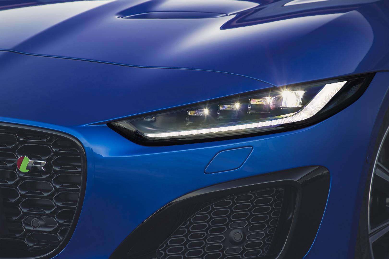 Jaguar F-type facelift 2021 koplamp