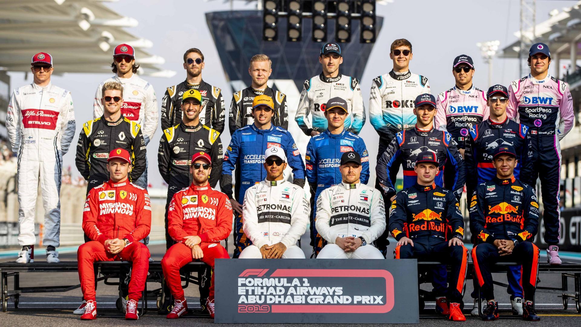 Alle coureurs 2019 Abu Dhabi at Yas Marina F1