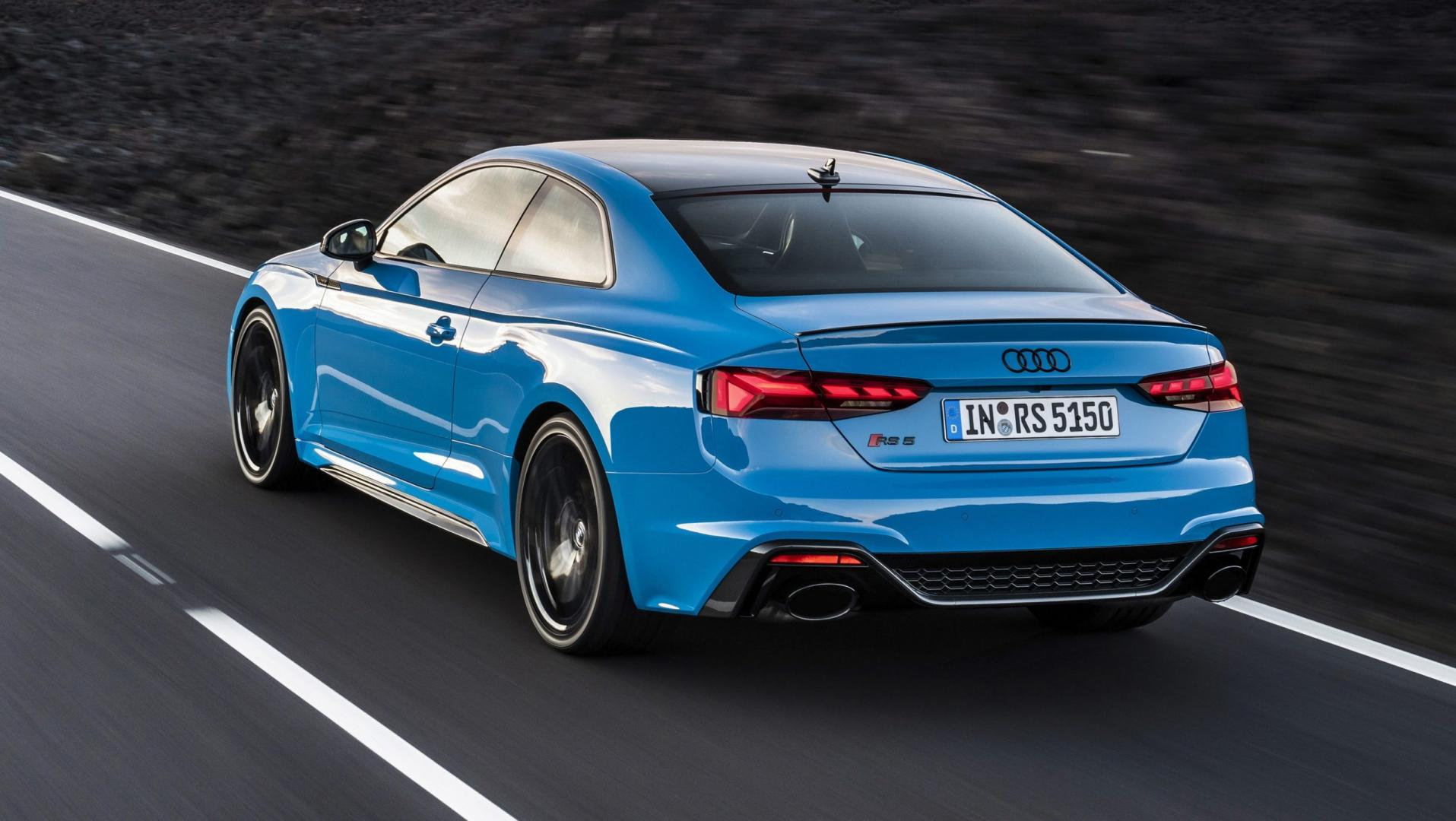 Audi RS 5 Coupe facelift turbo blauw