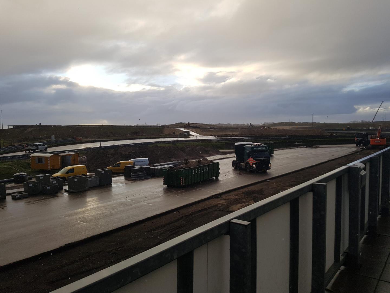 Circuit Zandvoort 2 december achter pitgebouwen