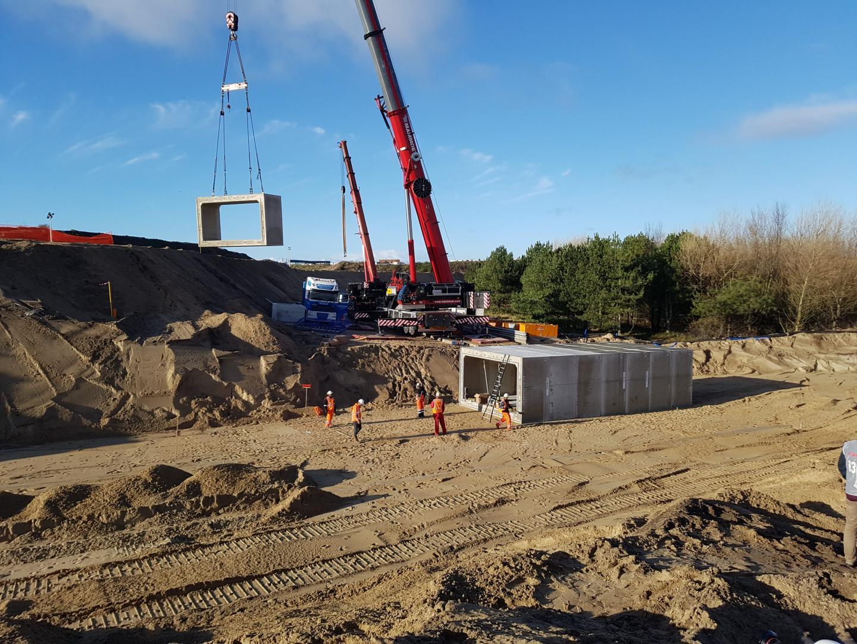 Circuit Zandvoort 2 december Arie Luyendijkbocht banking met tunnel