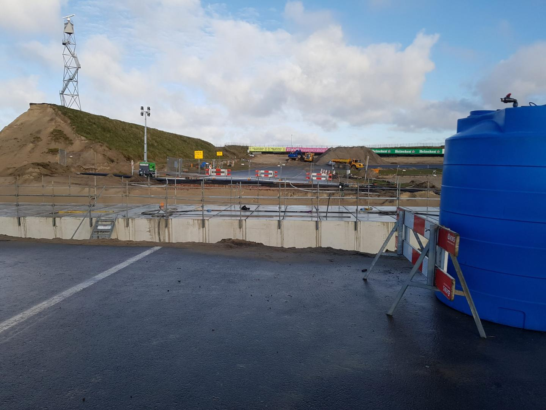 Circuit Zandvoort 2 december start/finish naar Tarzanbocht