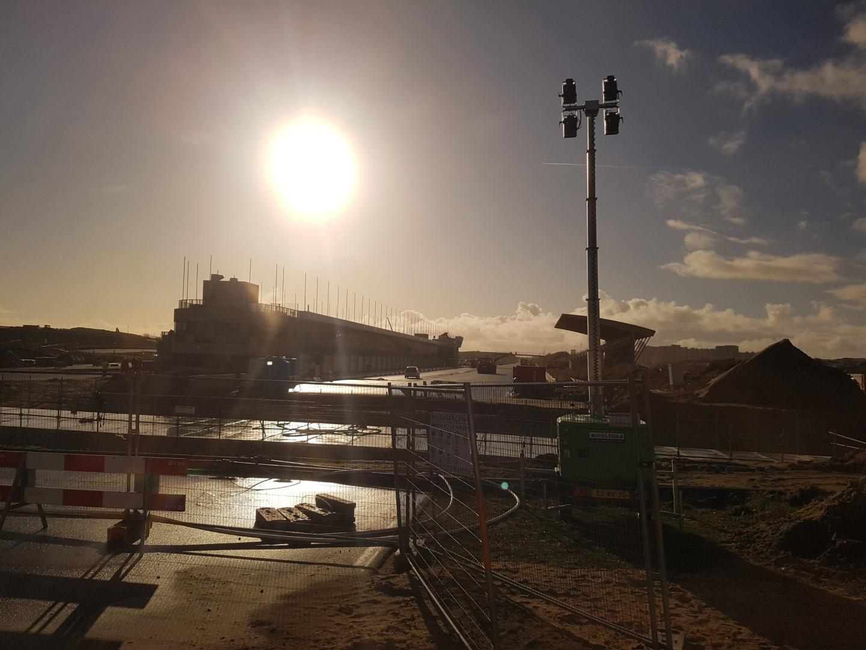 Circuit Zandvoort 2 december start/finish vanuit Tarzanbocht