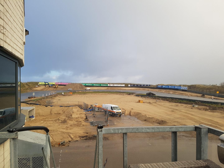 Circuit Zandvoort 2 december Tarzanbocht vanuit boven pits