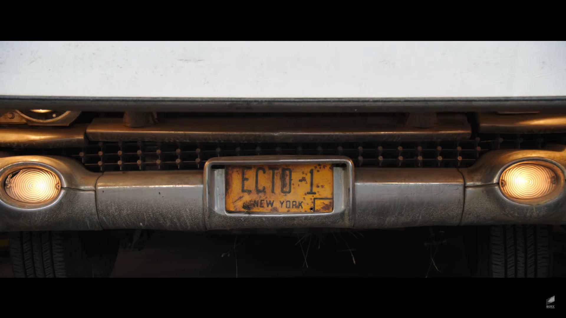 Ghostbusters Ecto-1 detail kentekenplaat