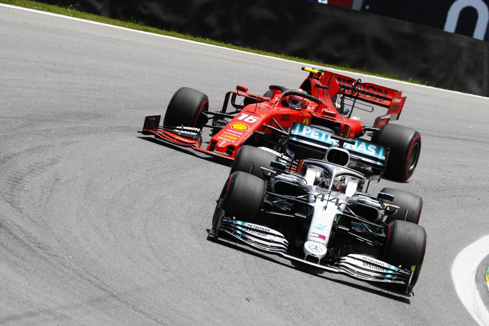 Hamilton en Leclerc 3 4 voor GP van Brazilië 2019