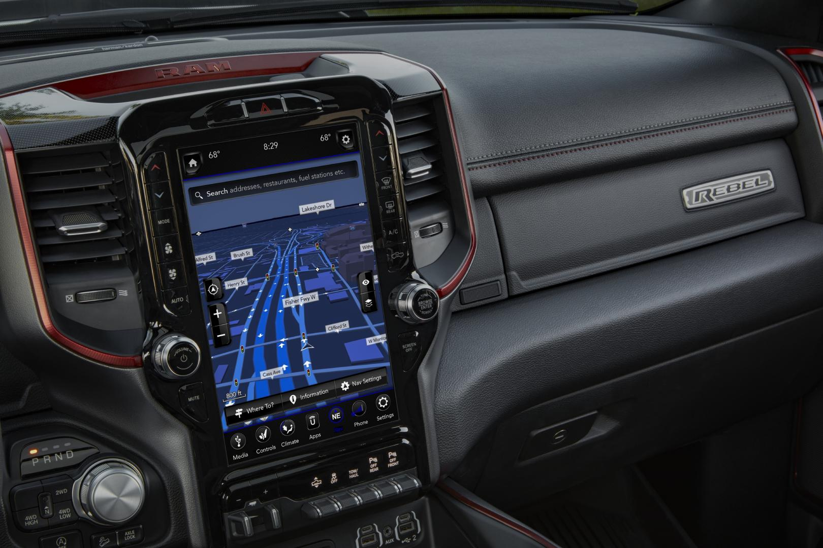 2020 Ram 1500 Rebel interieur dashboard navigatie