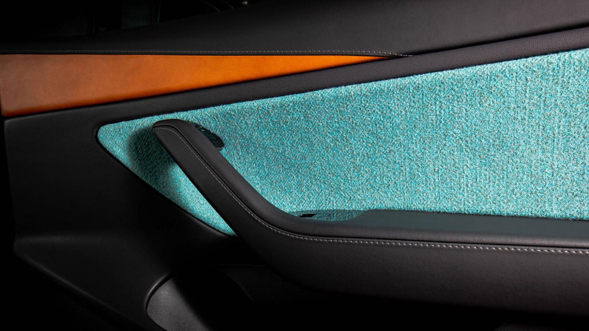 Tesla Model 3 Vilner interieur detail armsteun