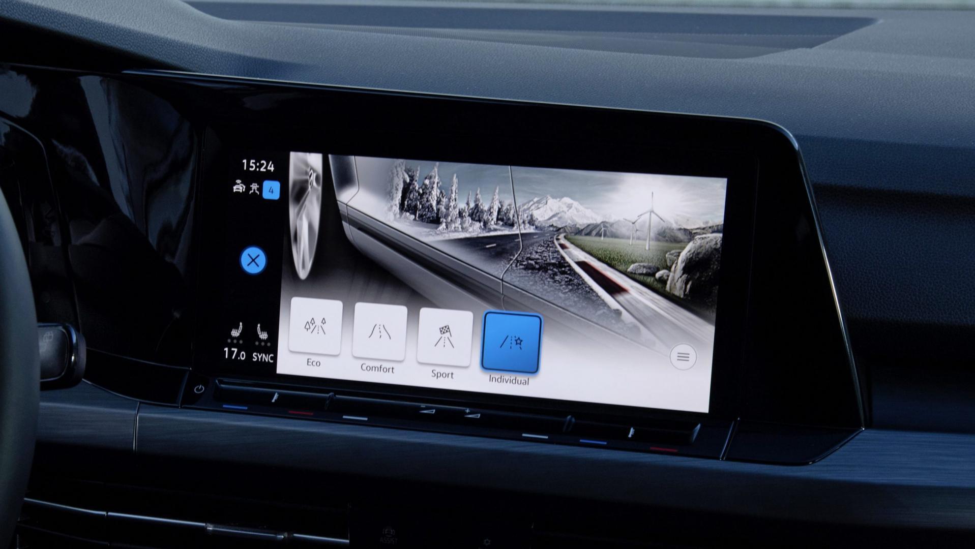 Volkswagen Golf 8 infotainment