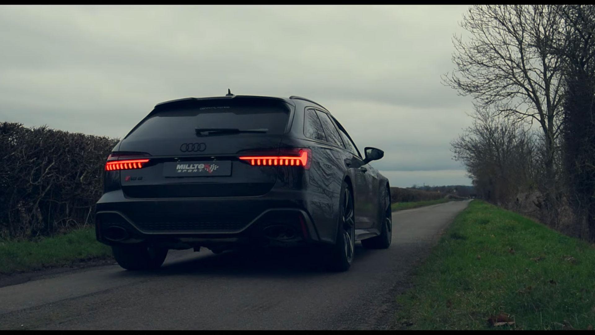 Audi RS 6 C8 met miltek-uitlaat