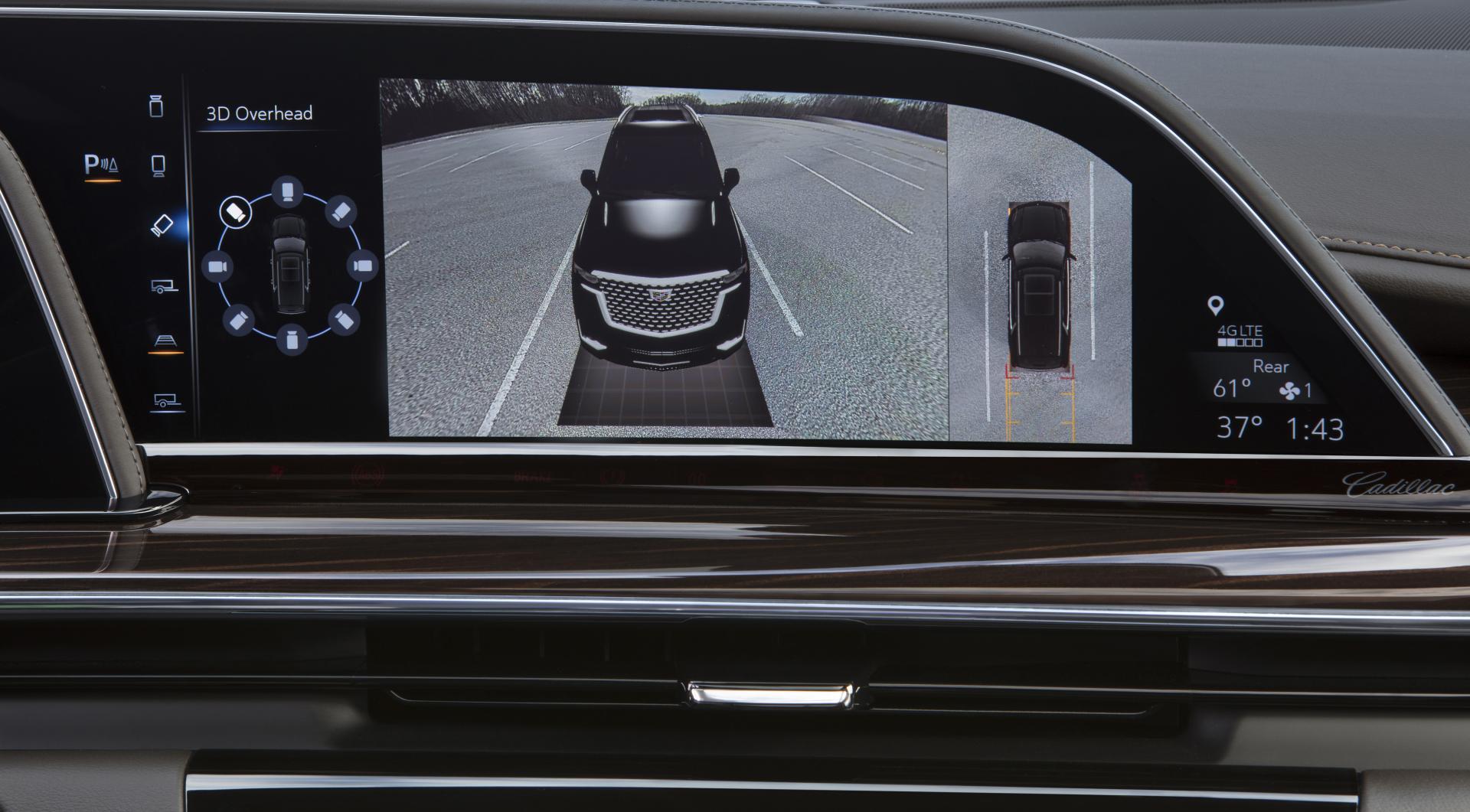 Cadillac Escalade 2021 scherm display surround parkeren