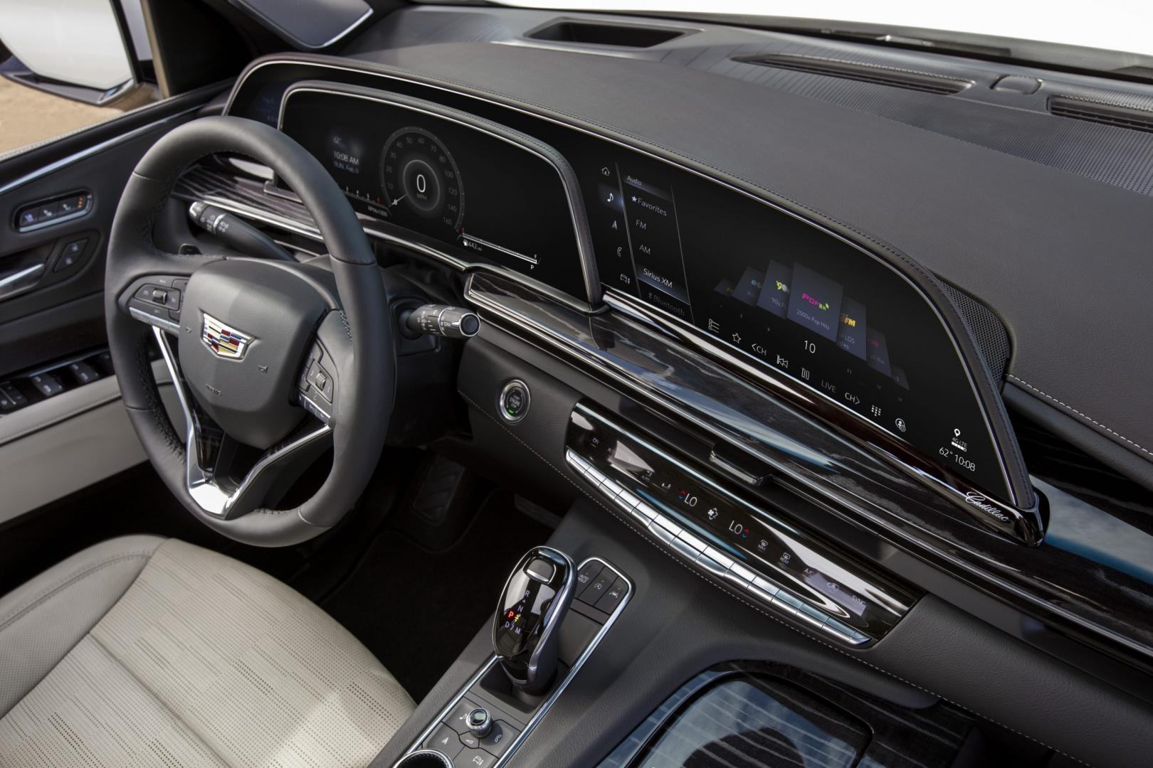 Cadillac Escalade 2021 dashboard interieur scherm schermen display oled