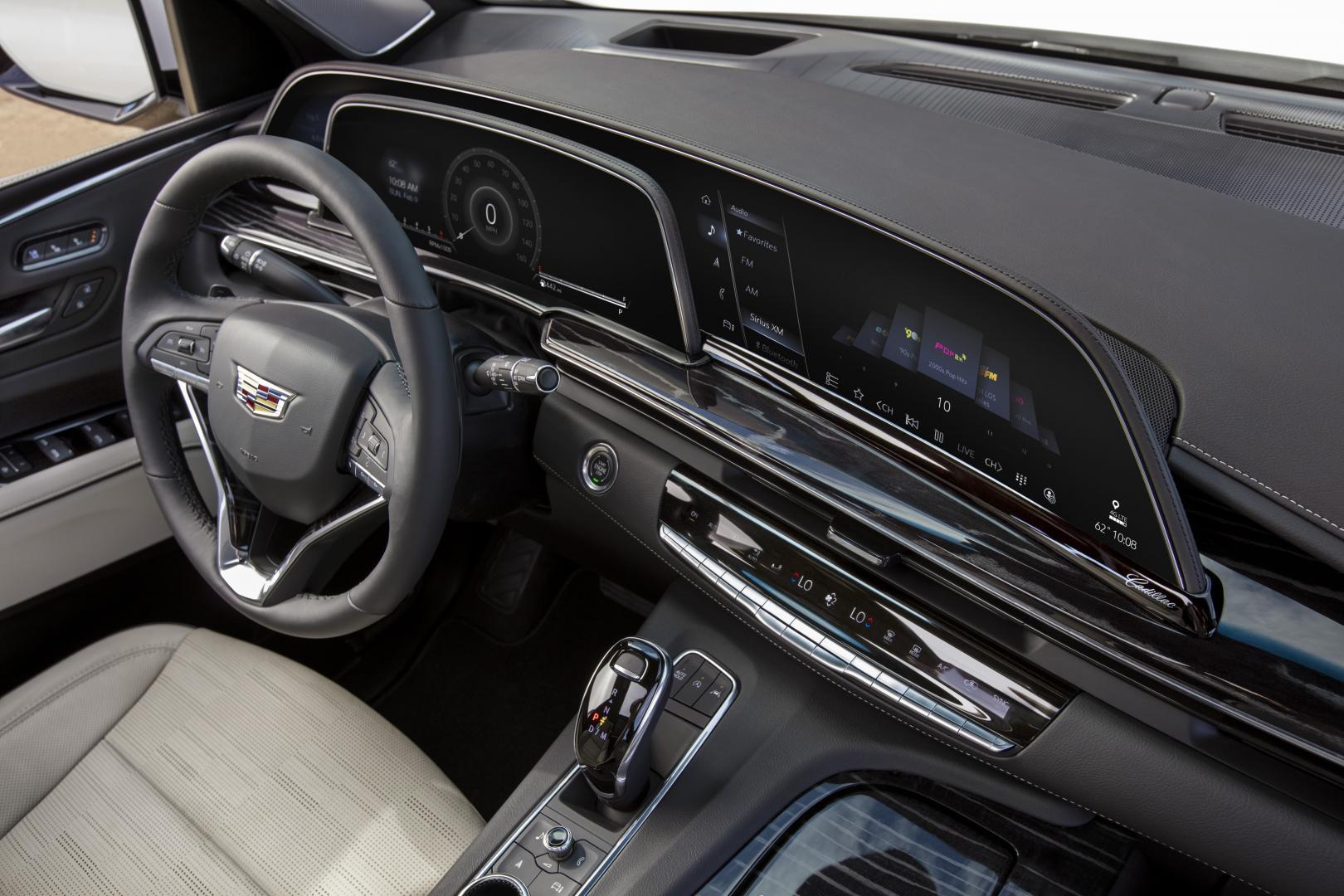 Cadillac Escalade 2021 dashboard interieur scherm schermen display oled