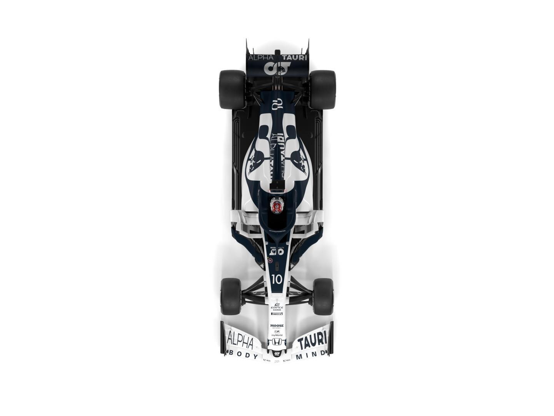 Alpha Tauri F1 auto 2020 boven
