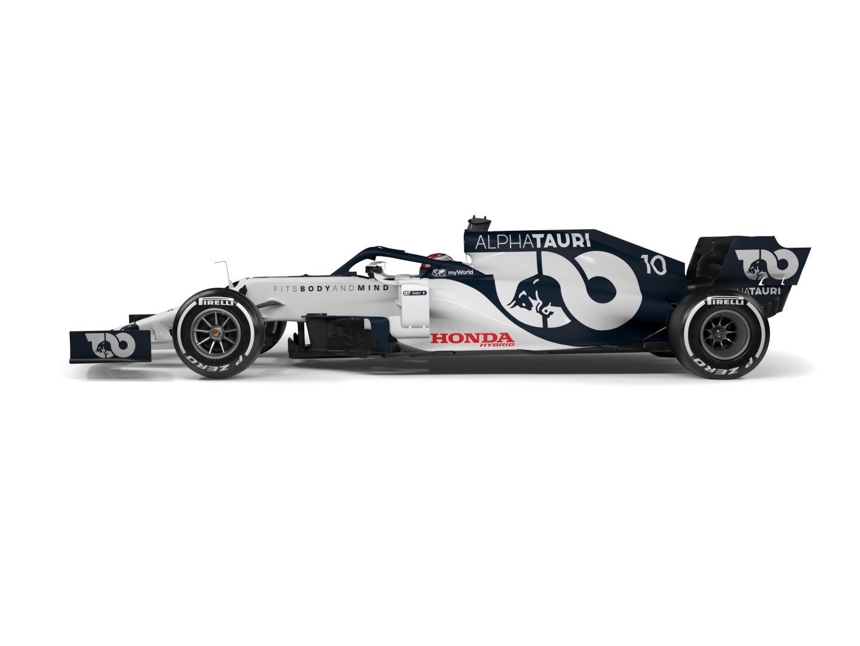 Alpha Tauri F1 auto 2020 zij