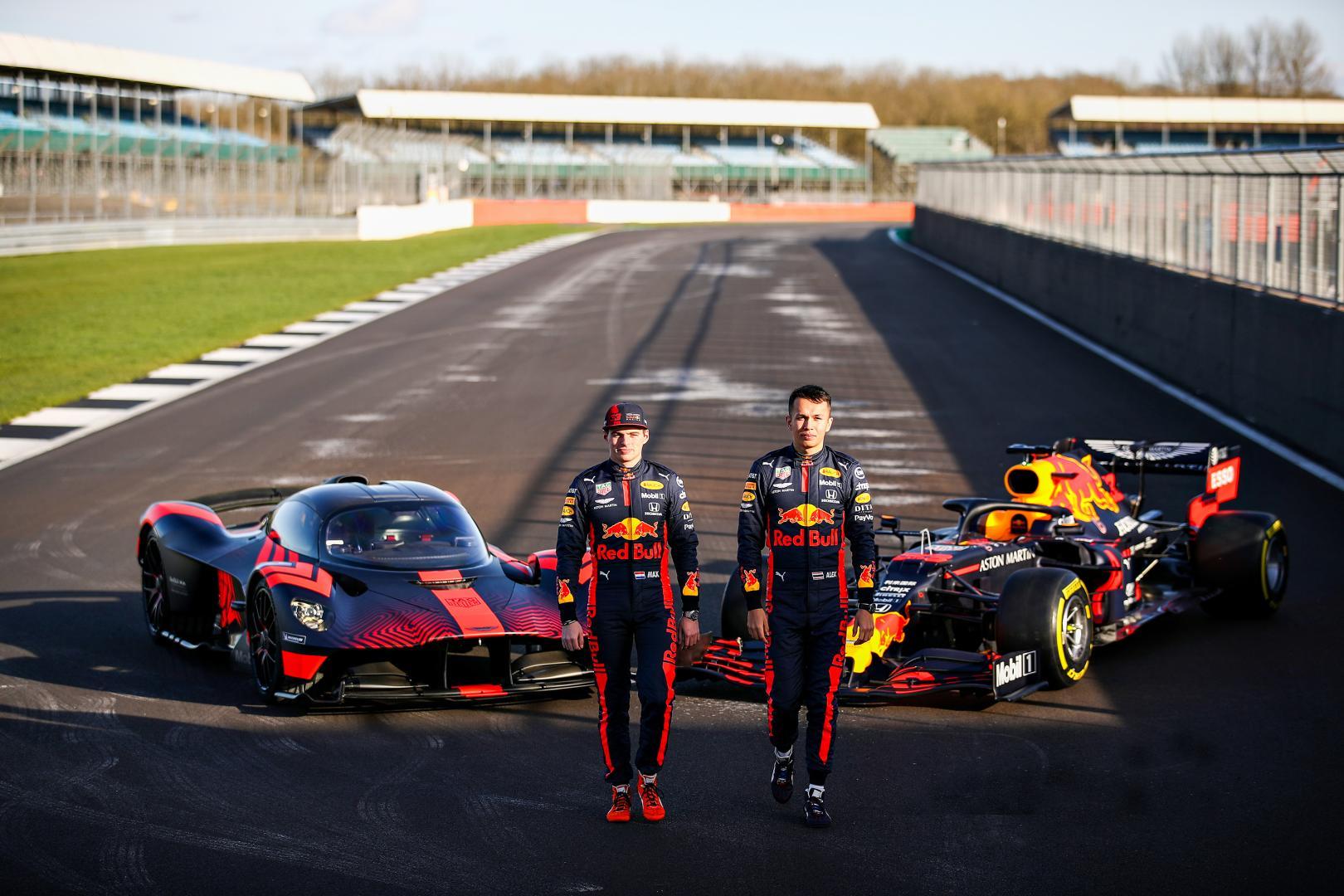 Aston Martin Valkyrie, Red Bull RB16, Max Verstappen, Alexander Albon