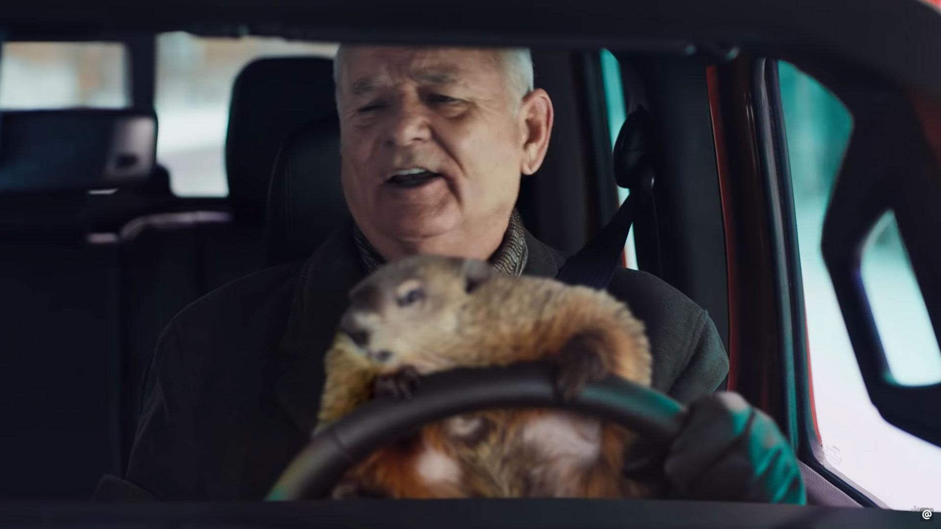 Bill Murray doet Groundhog Day-reclame