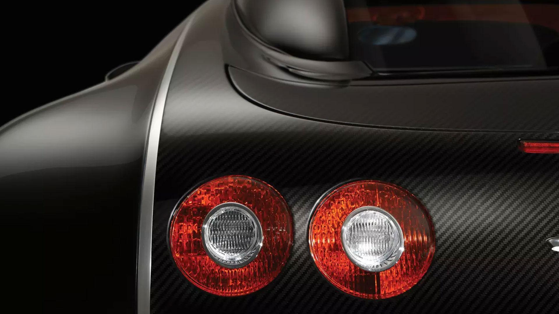 Bugatti Veyron Sang Noir achterlicht