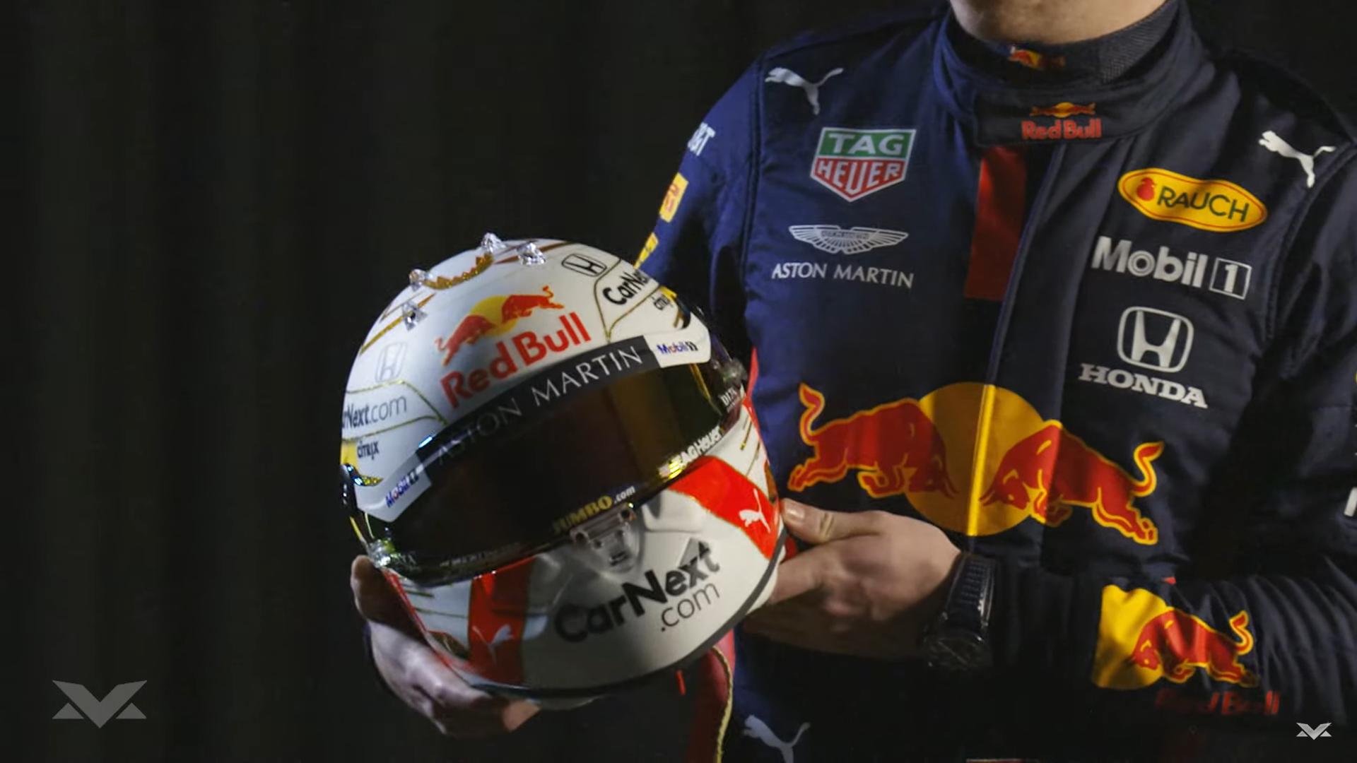 Max Verstappen helm 2020 voor